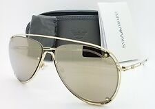 Emporio Armani sunglasses EA2073 30135A 63mm Light Brown Gold Mirror Aviator