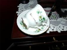 BLUEBIRD CANADA CHINA TEA CUP AND SAUCER GOLD GILT FLORAL