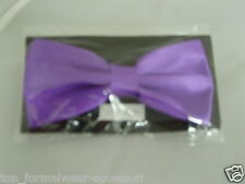 Cadbury Purple Pre-tied Mens Polyester Bow tie- in 60 Colours> P&P 2UK>1st Class