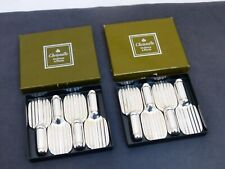 CHRISTOFLE ARIA set 8 Silver-plated Knife Rests / 8 porte couteaux / Mint / Box
