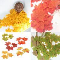 100Pcs Maple Leaves Fall Leaf Wedding Craft Art Scrapbook Party Home Decor