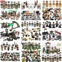 NEW WW2 Series Mini Military Soldiers Figures Building Block World War 2 USA SET