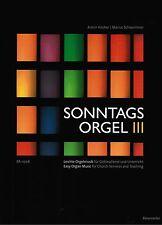 Kirchenorgel Orgel Noten : Sonntagsorgel  Band 3 - leichte Mittelstufe BA11206