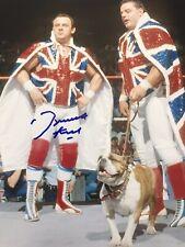 More details for autographed dynamite kid photo wwe stampede wrestling british bulldogs wwf dog