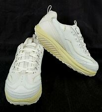 Sketchers Shape Ups Leather Womens US Size 8 EUR 38 UK 5 All White SN 11800 Used