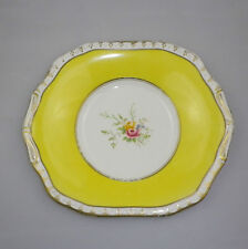 Vintage English Porcelain Cake Plate Marked with a Gold P