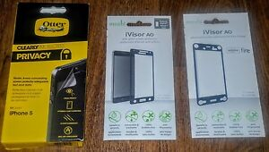 NEW Moshi Clearly Screen Protector iVisor AG Galaxy Alpha Black ~ Fire Phone