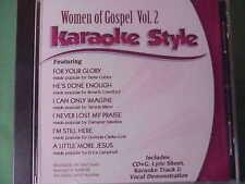 Women of Gospel  Volume #2  Christian  Daywind  Karaoke Style  cdg  Karaoke  NEW