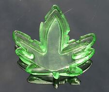 Green Glass Hemp Leaf Cannabis Marijuana Shaped Smoking Ashtray