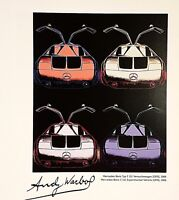 ANDY WARHOL HAND SIGNED SIGNATURE * CARS SERIES *  1986 PRINT