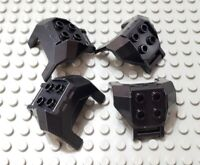LEGO New Lot of 4 Black Large Figure Chest Piece 4 Studs and Handle