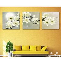 Set di 3 quadri pannelli decorativi dipinti a mano foto Orchidea 40cm