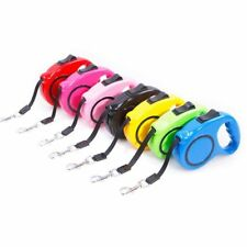 Good Quality 5M Automatic Retractable Nylon Leashes Pet Strap Plastic Handle New