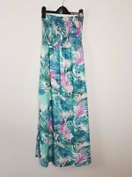 JEANSWEST Tropical Floral Strapless Maxi Dress Women's Size 8 High Side Split