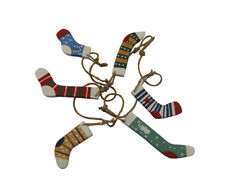 Shoeless Joe Christmas Decorative Stocking Garland - Novelty Stocking Garland