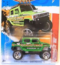 2012 Hot Wheels #201 THRILL RACERS EARTHQUAKE 1/5 ∞ HUMMER H2 ∞ PATROL