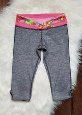Ivviva Cropped Leggings Girls Size 10 Gray