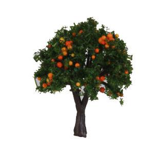 20 Orange Fruit Tree Model Train Diorama Garden Orchard Scenery 1:300 Z