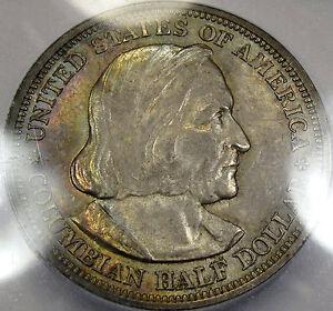 1893 Columbian Half Dollar Choice BU ICG MS-63... Very Nice and Original, Toned!