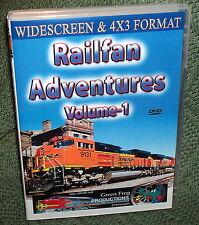 "20180 TRAIN VIDEO DVD ""RAILFAN ADVENTURES"" VOLUME 1 TN & KY WIDESCREEN 16x9"