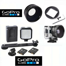 Hi-Def WIDE ANGLE MACRO LENS + 36 LIGHT LED FOR GOPRO HERO3 HERO3+ HERO4