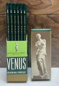 Vintage Venus Drawing Pencils 3800 6H Very Hard Original Box
