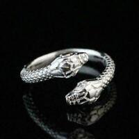 925 Sterling Silber Überzogene Frauen / Männer Mode Ring Geschenk GeÖffnet T1U6