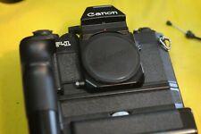 Canon F1N AE renommierter Vertreter aus der Profiliga der 90er Jahre mit Motor