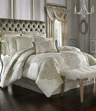 J. Queen New York La Scala 4-Piece CALIFORNIA KING Comforter Set Gold CREAM  NEW
