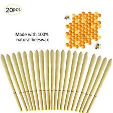 20pcs Ear Wax Cleaner Removal Hollow Candles Natural Bee Wax Healthy Cleaning