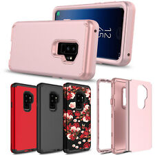 For Samsung Galaxy S9 Plus/S8/S10+/S10e Hybrid Hard Armor Full Cover Phone Case