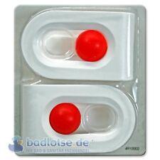 Duschvorhang-Klammern Vorhang Halter Fixierung Befestigung weiß/rot