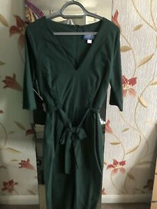 BNWT Collectif Vintage Green Meadow Pencil Dress Size 14
