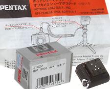 Nib Pentax Hot-Shoe Adapter F: Part #31022, 5 Pin Connector