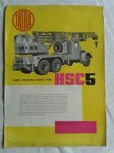 Werbeprospekt, Modellprospekt Tatra Lorry-Mounted Crane HSC 5, in englisch