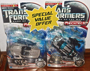 Transformers Dark of the Moon SIDESWIPE & TOPSPIN LOT SEALED NEW Deluxe Figure