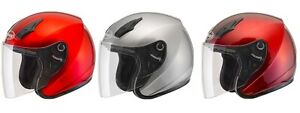 Gmax Adult OF-17 Open Face Motorcycle Metalic Helmet All Colors XS-3XL