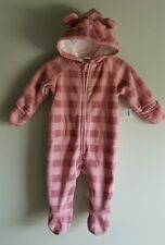 NWT Old Navy GIRLS Infant Baby 3-6 MONTH Bunting Pram PINK Hood COAT New #321416