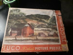 Tuco Deluxe Picture Puzzle The Red Barn Vintage Jigsaw Puzzle 1 Missing Piece