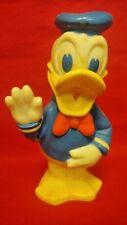 "Walt Disney Donald Duck 8"" doll Squeaks Hard Rubber vintage 1978 Cbs toys Rare"