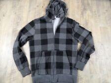 H&M DIVIDED coole Kapuzensweatjacke grau schwarz Gr. S TOP VEY1017