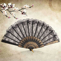Spanish Lace Flower Silk Folding Wedding Prom Party Hand Held Dance Fans H