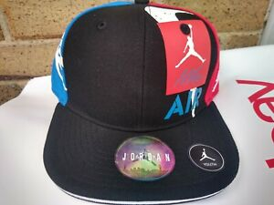 "NWT NIKE AIR JORDAN "" WHAT THE "" RETRO 4 RED WHITE BLUE YOUTH KIDS HAT **RARE**"
