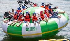 Inflatable 0.9mm PVC Towable River Disco Boat Raft With Pump NEW