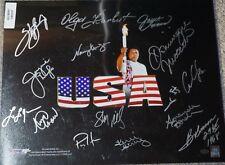 Olympic Group Autographed Photo 16x20 15 AUTOS USA w/ Leaf COA Read Description
