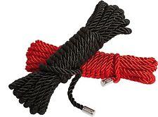 Set di 2 Corde per Soft Bondage (1 Rossa + 1 Nera) linea 50 Sfumature di Grigio