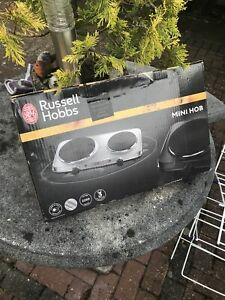 Russell Hobbs Free Standing Double Mini Hob with Large and Small Hotplates