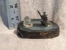 Pewter Wizard on Geode Base with Crystal