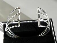 ✨YLANG YLANG✨ 27g sterling silver 925 fully HM modernist cuff bangle bracelet