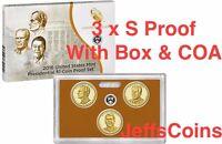 2016 S Nixon Ford Reagan 3 PROOF Presidential Dollars BOX & COA US Mint Set 16p3
